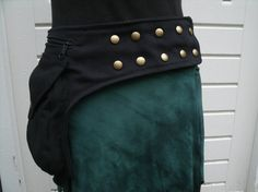 Bekijk dit items in mijn Etsy shop https://www.etsy.com/listing/267619655/black-canvas-hip-bag-closed-with-snap