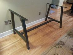 A 2 Metal Table Legs with cross bar brace by DirtFrogFurniture