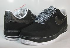 detailed look 89034 e544d A New Take on the Black  White Nike Air Force 1 Low