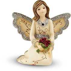 Elements January Monthly Angel Figurine Includes Garnet Birthstone 3Inch >>> Check out this great product.