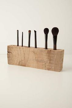 Oakwood Makeup Brush Holder - anthropologie.com