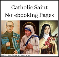 Beautifully created saint notebooking pages!Teresa of Calcutta, and St. Theresa of Lisieux perfect for homeschooling. Catholic Crafts, Catholic Kids, Catholic Saints, Catholic Homeschooling, Maximillian Kolbe, Saint Teresa Of Calcutta, St Therese Of Lisieux, All Saints Day, Religious Education