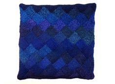 Entrelac cushion cover Knitted Cushions, Throw Pillows, Cover, Toss Pillows, Cushions, Knitted Pillows, Decorative Pillows, Decor Pillows, Scatter Cushions