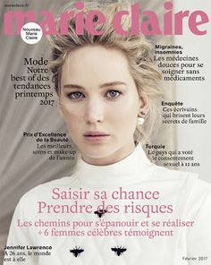 Olhares: Jennifer Lawrence na capa da 'Marie Claire' França...