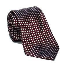 8dbdf523a0e0 #men fashion 2018 spring sale Ermenegildo Zegna Men Dress tie Dark Red with  White Dots