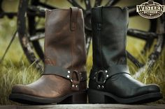 Cowboy Boots, Biker, Brown, Shoes, Black, Fashion, Zapatos, Moda, Shoes Outlet