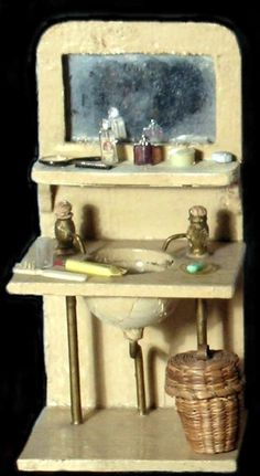 Antique dollhouse rooms