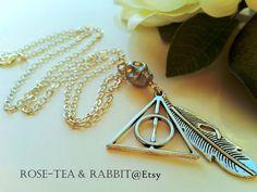 Deathly Hallows Pendant Necklace  Antiqued by RoseTeaAndRabbit https://www.etsy.com/uk/listing/263996094/deathly-hallows-pendant-necklace?ref=shop_home_active_1