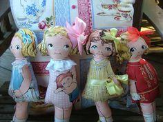 Large Cloth Paper Doll Elsie June Vintage by georgiamarbles, $18.00