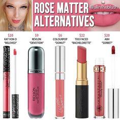 Dupes for Jeffree Star's Rose Matter lipstick @allintheblush