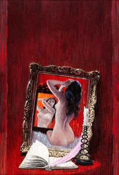 Victor Kalin Original Painting, The Journal of Kitty Adair, 1960