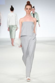 Kingston University student Merle Ingram's collection on the catwalk at Graduate Fashion week 2014. Find out more about studying Fashion at KU: http://www.kingston.ac.uk/undergraduate-course/fashion/?utm_source=Pinterest&utm_medium=Social&utm_campaign=KUPinterest&utm_content=Graduatefashionweekpics4July
