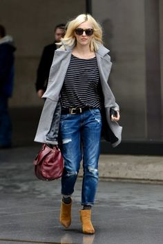 Style tips we can learn from Fearne Cotton's off-duty wardrobe Cool Girl Style, Rock Chick Style, My Style, Casual Outfits, Fashion Outfits, Fasion, Winter Outfits, Fearne Cotton, Gamine Style