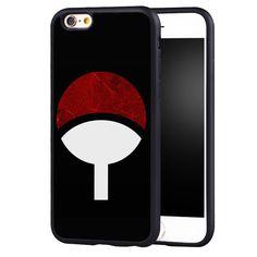 Naruto Uchiha Itachi Clan Grunge Logo Symbol Soft TPU Mobile Phone Case For iPhone 6 6S Plus SE 5 5S 5C 4 4S Back Shell Cover