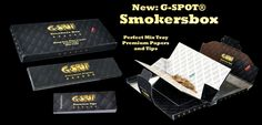 New: G-SPOT Smokerbox Perfect Mix Tray, King Size Papers and Filtertips all in one handy box