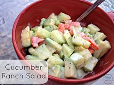 Summer Salad: Zesty Cucumber Ranch - a use for my healthy ranch dressing recipe