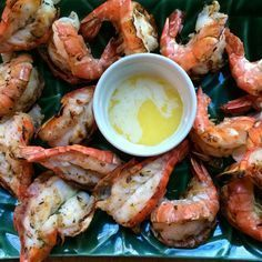 Food Impressions: Butterflied Grilled Shrimp with Garlic Butter #seafoodrecipes