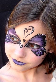 Purple Butterfly  Faces Alive - Face Painting Gallery