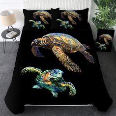 Comforter Cover, Duvet Cover Sizes, Quilt Cover Sets, Comforter Sets, Duvet Covers, Beach Themed Quilts, Black Bedding, 3d Bedding, Tropical Design