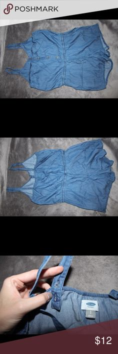 Romper Thin soft denim material with pockets and adjustable straps. Only worn once. Old Navy Other