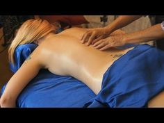 Back Massage Therapy Techniques with Oil, How to Give a Back Relaxing Back Massage, ASMR Athena