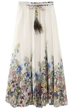 flimsy-floral-print-pleated-swing-skirt