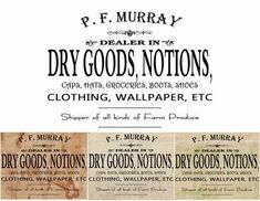 Murray Dry Goods Signs Graphic Transfer Image by GeorgesKitchen