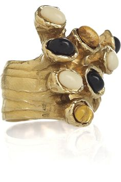 Arty gold-plated glass ring by Yves Saint Laurent