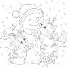 Fox Chapel Publishing is pleased to announce the arrival of two new Christmas coloring books, featuring the artwork of several award-winning artists Abstract Coloring Pages, Flower Coloring Pages, Mandala Coloring Pages, Animal Coloring Pages, Coloring Book Pages, Printable Coloring Pages, Coloring Pages For Kids, Christmas Coloring Sheets, Hello Kitty Christmas
