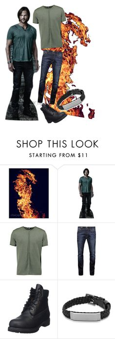 """""""The Moose is on Fire"""" by supernatural-699 ❤ liked on Polyvore featuring Boohoo, Jack & Jones, Timberland, FOSSIL, supernatural and samwinchester"""