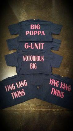 Sorority Shirts-Set of 4 G-Unit Notorious Big Ying by PreciousEmma