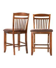 Look at this #zulilyfind! Brown Eldon Counter Chair - Set of Two #zulilyfinds