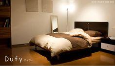 ワイドダブルベッド/Dufy マットレス付き  bed  #家具