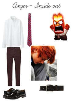 """""""anger outfit - inside out"""" by eva-verhaar ❤ liked on Polyvore"""