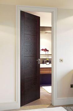 RENNES P4400 DARK OAK - striking design in a striking finish! Timber Door, Wooden Doors, Internal Doors Modern, Veneer Door, Carpenter Work, Flush Doors, Oak Stain, Wood Colors, Door Design