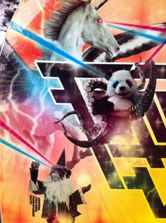 Best snowboard graphics EVER. Pandapuss, chizzard and unipeg.