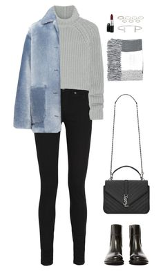 """Untitled #944"" by romane-inspiration ❤ liked on Polyvore featuring Yves Saint Laurent, Topshop, T By Alexander Wang, Burberry, Acne Studios, Humble Chic, Akira, MAC Cosmetics, women's clothing and women"