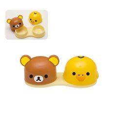 Rilakkuma And Kiroiitori contact lens case. so cute!!
