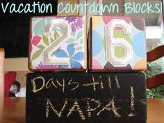 {DIY} Vacation countdown blocks