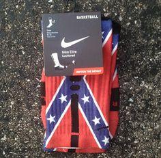 Nike Elite Socks decorated with Rebel Flag by SockoSocks on Etsy  I NEED THESE!!!