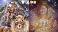 Both of these Goddesses are considered mothers to the Gods. They both represent freedom and motherhood and birthed some of the leader Gods. Mythological Characters, Indian Gods, Goddesses, Mythology, Mothers, Freedom, Religion, Greek, Spirituality