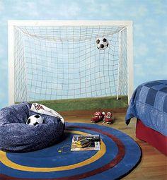 Soccer Mural - Large Goal Net Soccer Wall Mural Accent