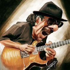 Santana Caricature