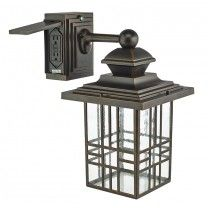Hampton Bay Mission Style Black with Bronze Outdoor Highlight Wall