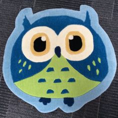 Owl Kids Rug - Blue Quality rug a great addition to any girls bedroom (also in Pink), 80cm x 80cm - £29