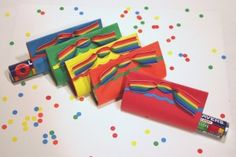 rainbow wedding favours