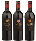 CALVET France Vins du Sud Ouest AOP Cahors 2015 75 cl - Lot de 3