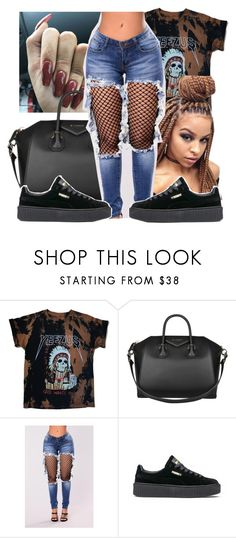 """""""Untitled #174"""" by jezellee ❤ liked on Polyvore featuring Givenchy and Puma"""