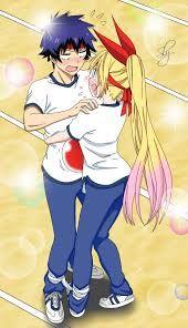 Colorized Sports Festival Raku and Chitoge [x-post from /r/Tsunderes] Nisekoi, Anime Girl Cute, I Love Anime, Otaku Problems, Bae, Chibi, Cute Anime Coupes, Anime Couples Manga, Anime Ships