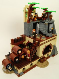 Lego Hobbit MOC - Modular Barrel Escape   by SEBASTIAN-Z